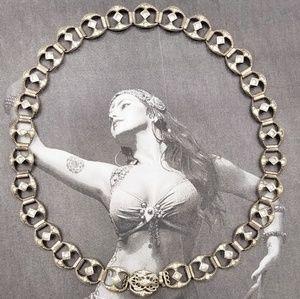Vintage sterling crystal rhinestone deco choker